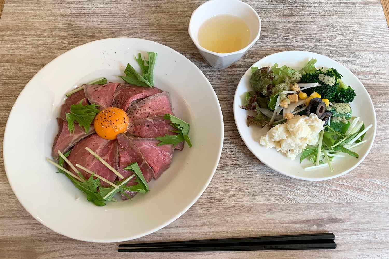 カラソル クオリア 塩麹熟成ローストビーフ丼