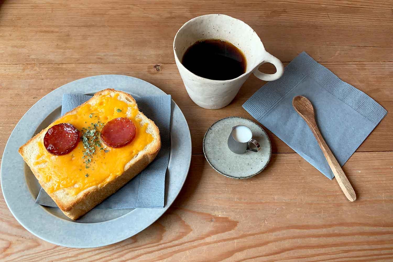 うぐいすと穀雨 トースト 珈琲