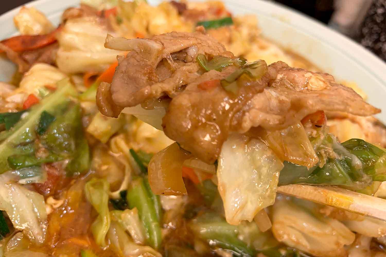 野菜と肉のタレ焼定食 ランチハウスミトヤ