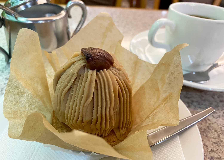 池袋西口の喫茶店フラミンゴのモンブラン