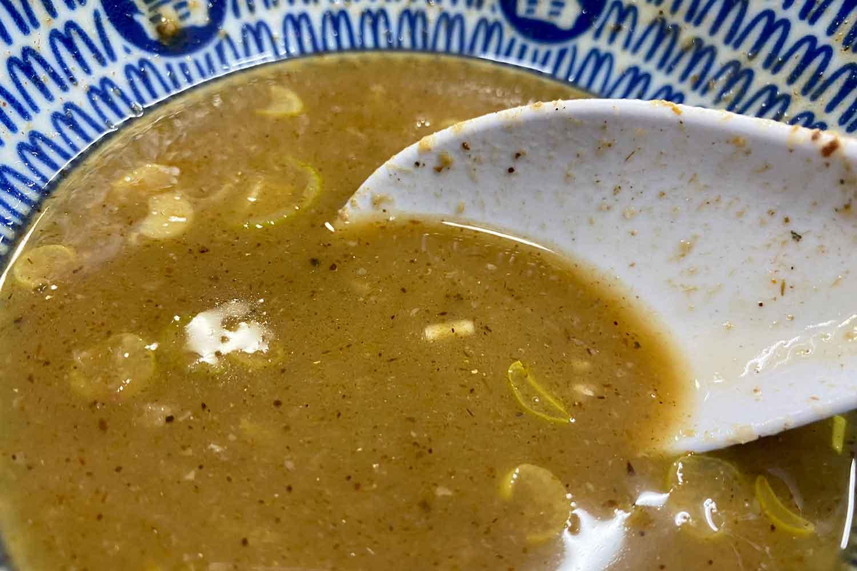 中華蕎麦とみ田のスープ割