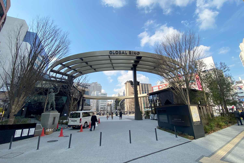 再開発された池袋西口公園の写真
