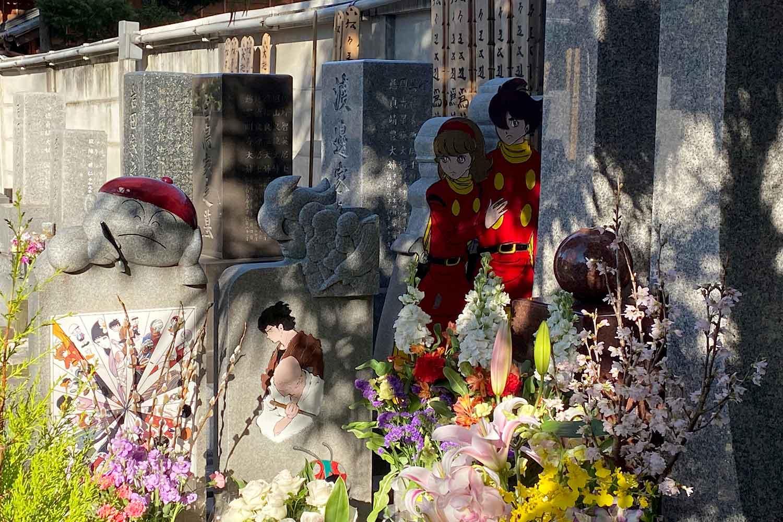 祥雲寺『石ノ森先生のお墓』にはサイボーグ009などの画が描かれている!